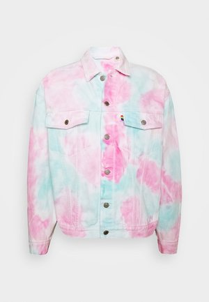 PRIDE OVERSIZED TRUCKER JACKET - Summer jacket - pride faded tie dye