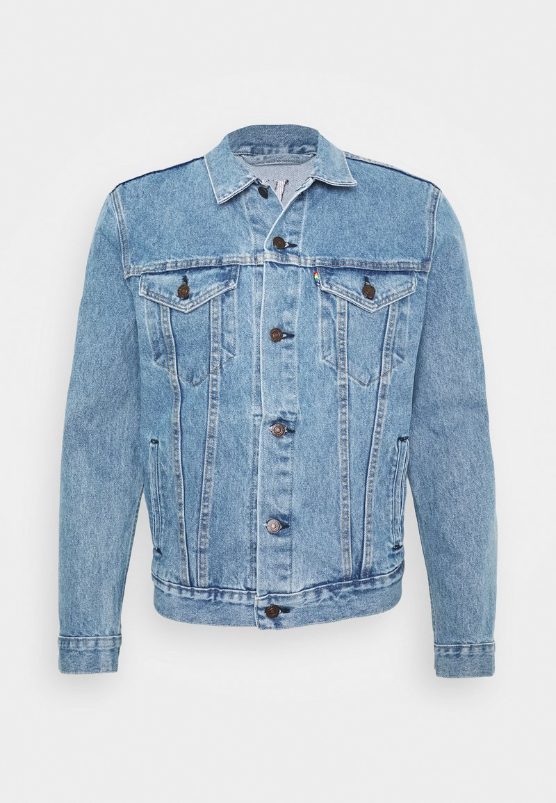 Levi's® - PRIDE THE TRUCKER JACKET - Džínová bunda - blue denim