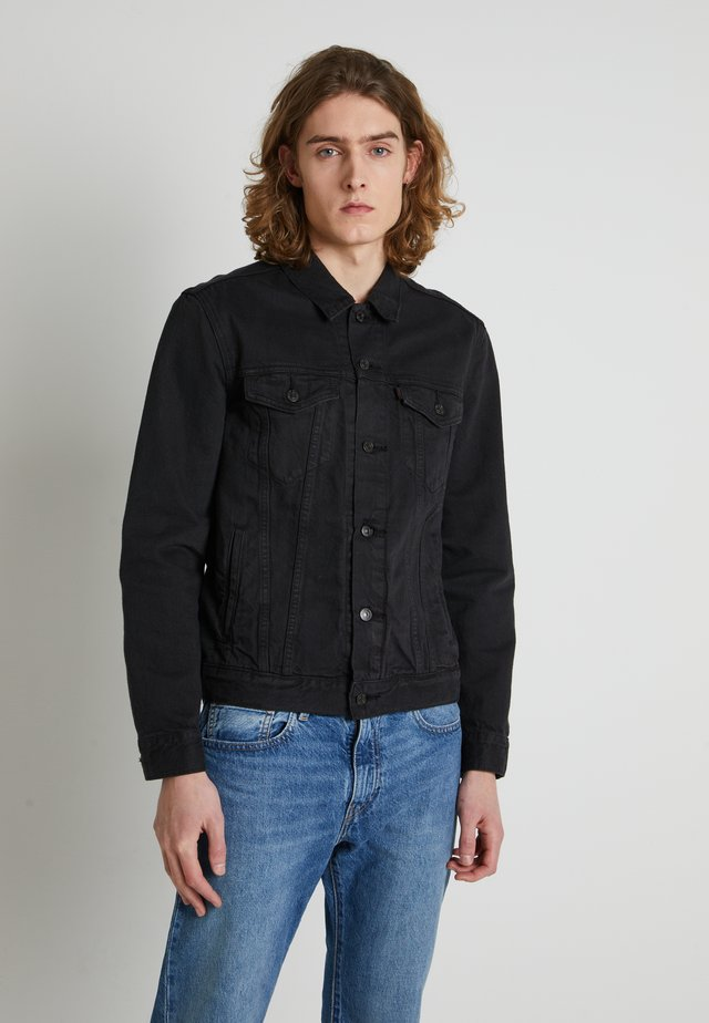 WELLTHREAD TRUCKER - Jeansjacka - breaking wave black