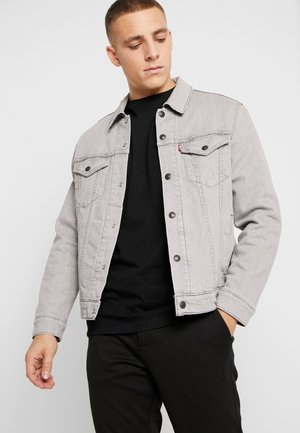 REVERSIBLE LINED TRUCKER - Denim jacket - grey