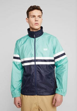 COLORBLOCKED WINDBREAKER - Summer jacket - night blue/crème/menthe
