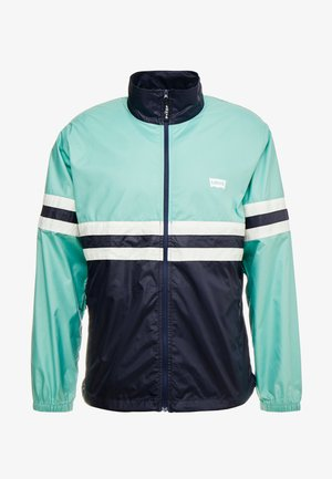 COLORBLOCKED WINDBREAKER - Kevyt takki - night blue/crème/menthe