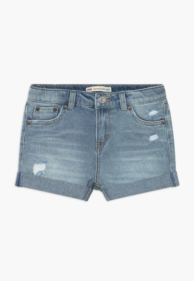 GIRLFRIEND SHORTY SHORT - Shorts vaqueros - light-blue denim