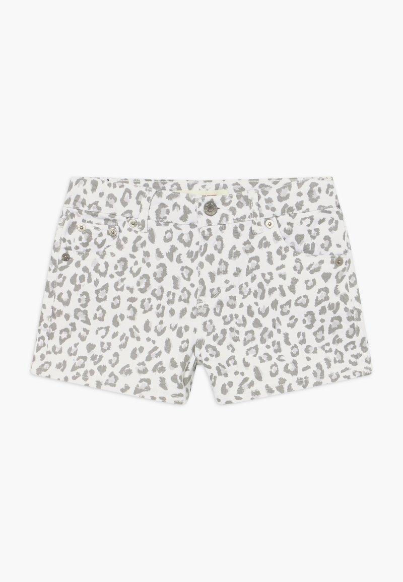 Levi's® - SHORTY - Denim shorts - white/gray
