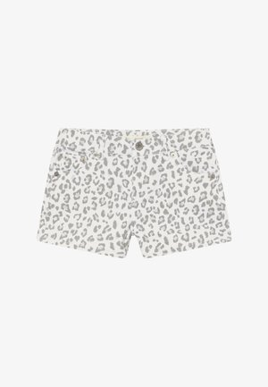 SHORTY - Szorty jeansowe - white/gray