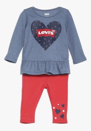 PEPLUM TEE LEGGING SET BABY - Bukser - red