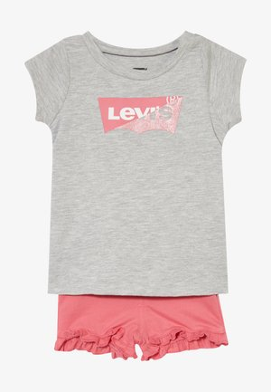 GRAPHIC TEE SET - Shorts - light gray heather