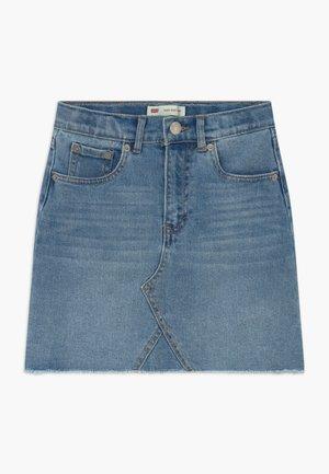 HIGH RISE - Denim skirt - light-blue denim