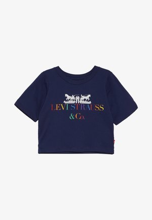 COPORATE LOGO CROPPED TEE - Camiseta estampada - medieval blue
