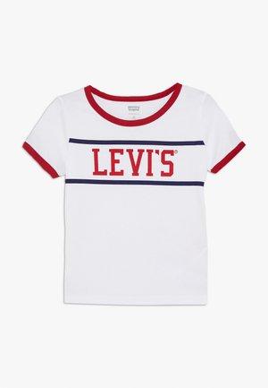 LOGO RINGER TEE - T-shirt print - white