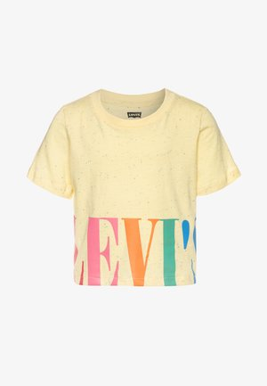 VARSITY HIGH RISE - T-shirt imprimé - pale banana