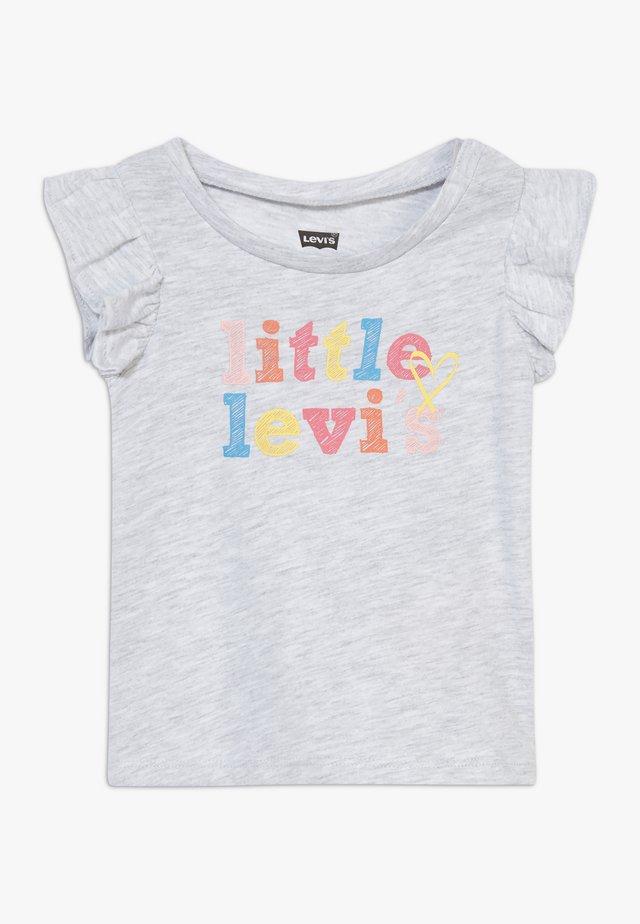 FLUTTER SLEEVE GRAPHIC - T-shirt print - light gray heather