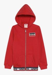 Levi's® - ELONGATED FULL ZIP HOODIE - Felpa aperta - super red - 0