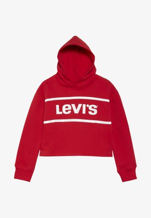 CROPPED BRANDED HOODIE - Jersey con capucha - super red