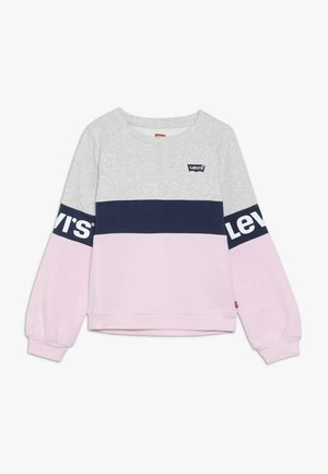COLORBLOCKED CREW - Mikina - light grey heather