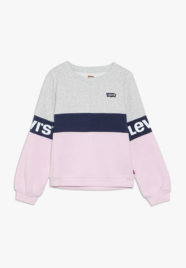 COLORBLOCKED CREW - Sweatshirt - light grey heather