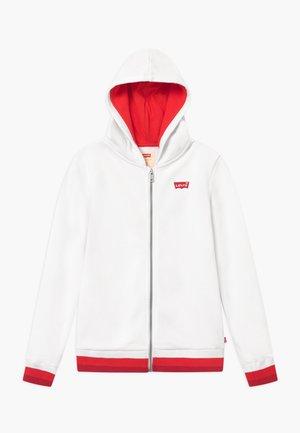FULL ZIP HIGH RISE HOODIE - veste en sweat zippée - white