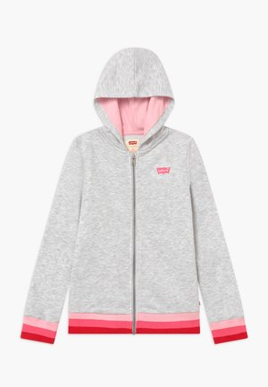 FULL ZIP HIGH RISE HOODIE - Collegetakki - rose shadow