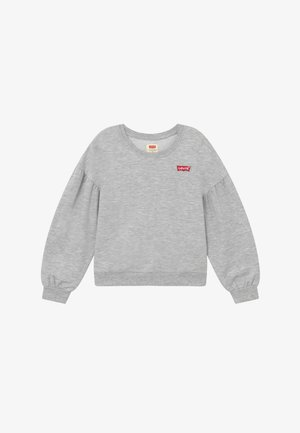 BALLOON SLEEVE CREW - Mikina - light gray heather
