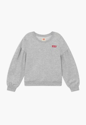 BALLOON SLEEVE CREW - Sweater - light gray heather