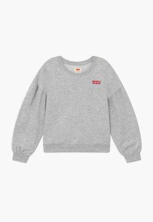 BALLOON SLEEVE CREW - Felpa - light gray heather