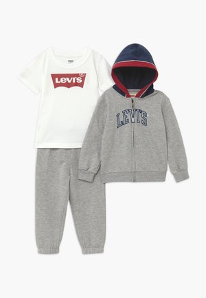 COLOR BLOCKED HOODIE SET - Träningsset - grey heather
