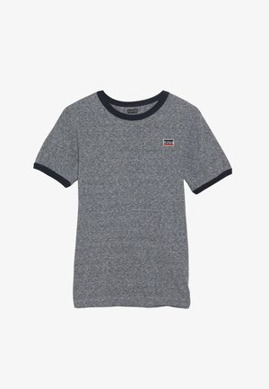SPORTSWEAR LOGO PATCH RINGER TEE - T-shirt print - dress blues/snow yarn