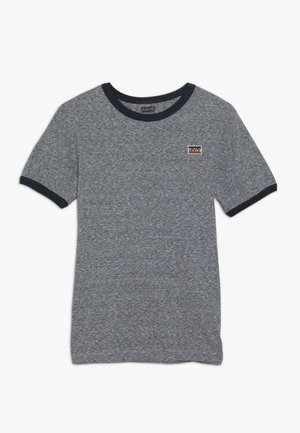 SPORTSWEAR LOGO PATCH RINGER TEE - T-shirt imprimé - dress blues/snow yarn