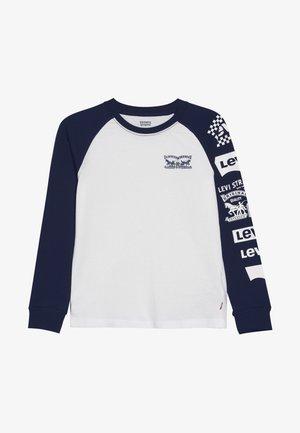 COLOR BLOCKED RAGLAN - Pitkähihainen paita - white