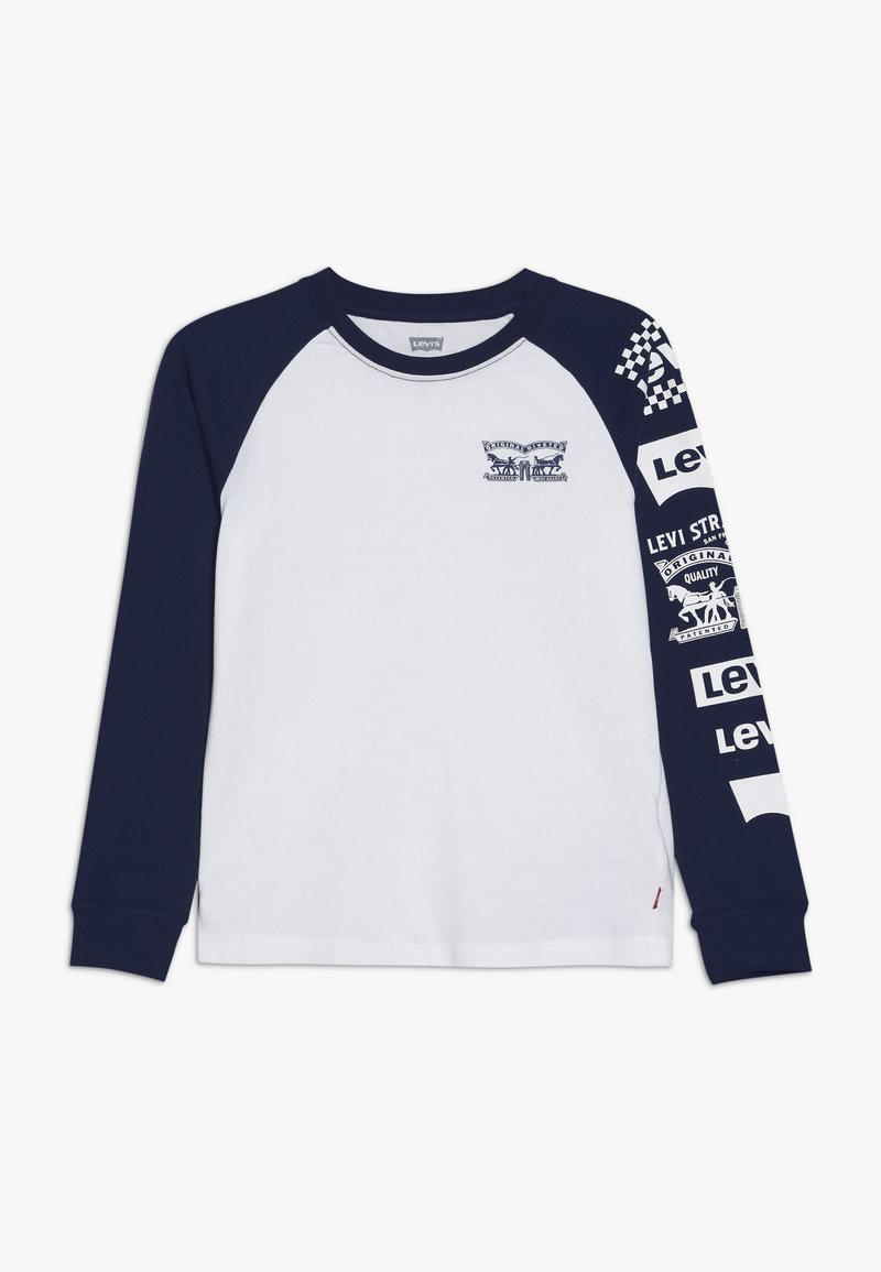 Levi's® - COLOR BLOCKED RAGLAN - Long sleeved top - white