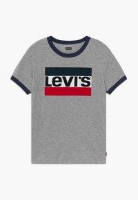 Levi's® - SPORTSWEAR LOGO RINGER - T-shirt imprimé - grey heather - 0