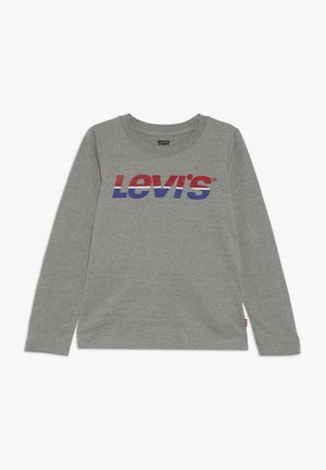 SPLIT TEE - Topper langermet - grey heather