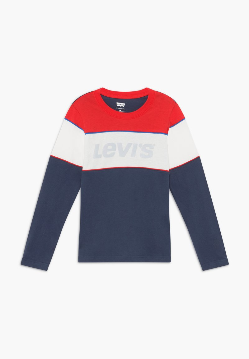 Levi's® - COLOR BLOCK - Long sleeved top - dress blue