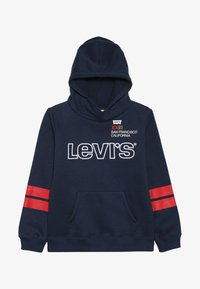 Levi's® - DIAGONAL STRIPED HOODIE - Jersey con capucha - dress blues - 3