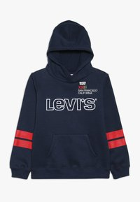 Levi's® - DIAGONAL STRIPED HOODIE - Jersey con capucha - dress blues - 0