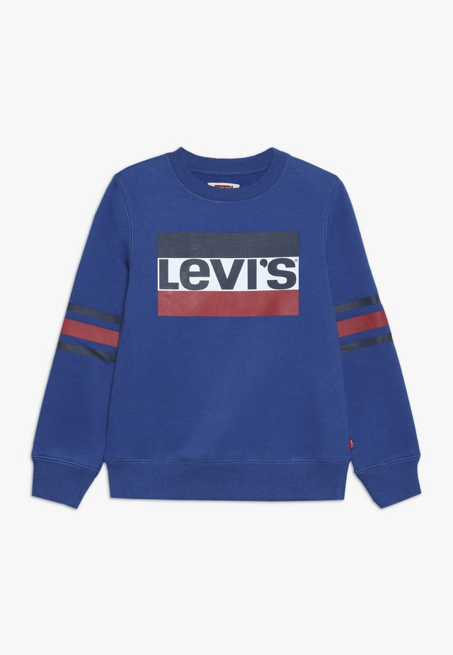 SPORTSWEAR LOGO STRIPED CREW - Sweater - true blue