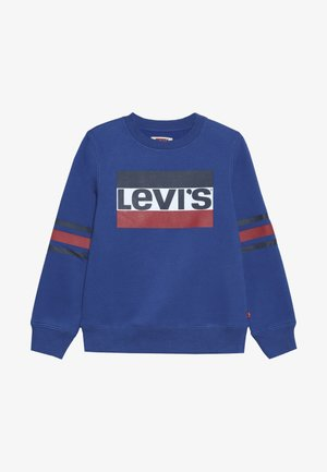 SPORTSWEAR LOGO STRIPED CREW - Mikina - true blue