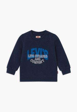 TWO-TONE PRINT CREWNECK - Sweatshirt - dress blue