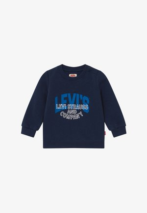 TWO-TONE PRINT CREWNECK - Sweatshirt - dress blue