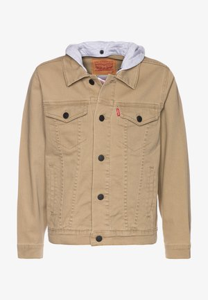 HODDED TRUCKER - Veste en jean - harvest gold