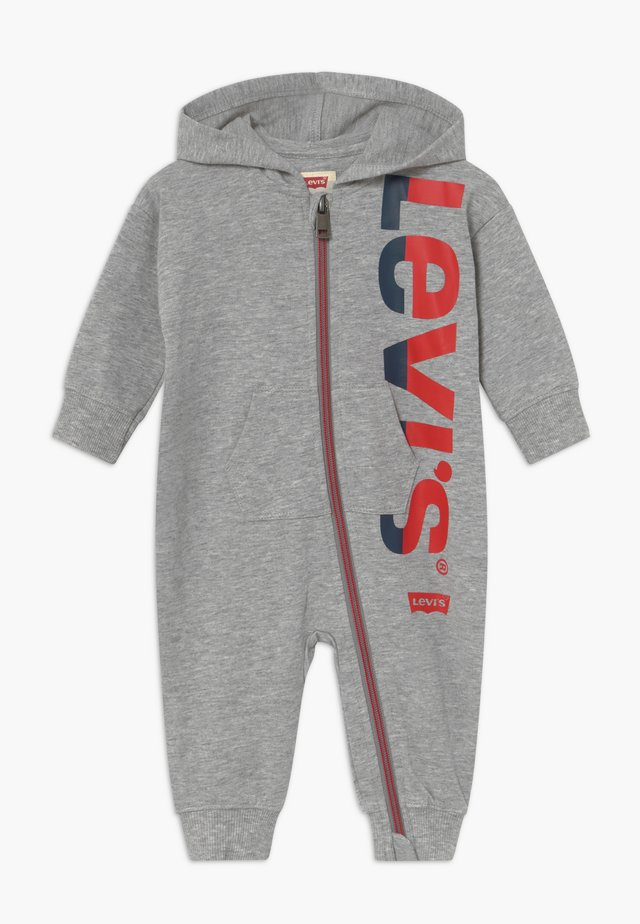 COLORED ZIP PLAY ALL DAY - Kombinezon - grey heather