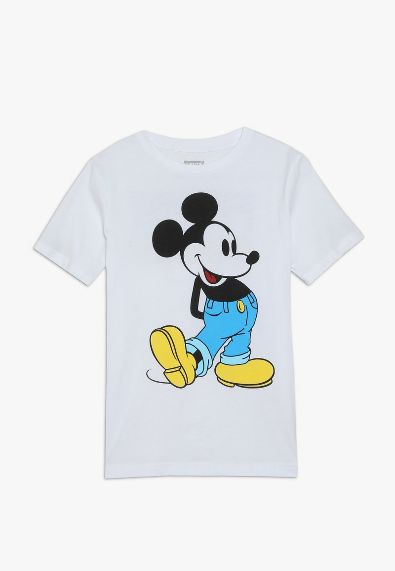 Levi's® - KICKED OUT MICKEY TEE - T-shirt med print - white