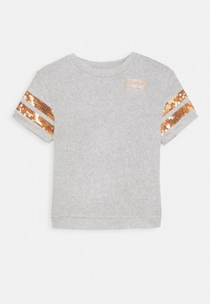 T-shirt print - light grey heather