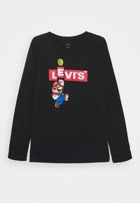 Levi's® - MARIO BOX TAB TEE - Long sleeved top - black - 0