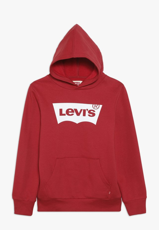 BATWING SCREENPRINT HOODIE - Jersey con capucha - red/white