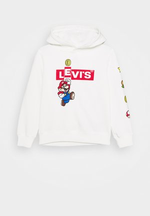 MARIO BOX TAB HOODIE - Sweat à capuche - white