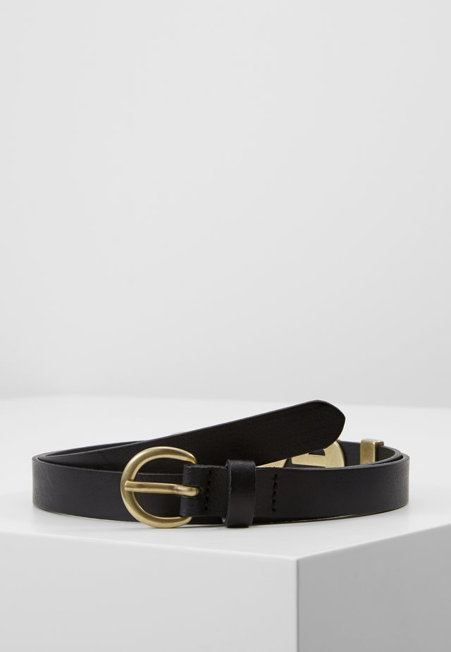 LEVI'S LETTER BELT - Cinturón - regular black
