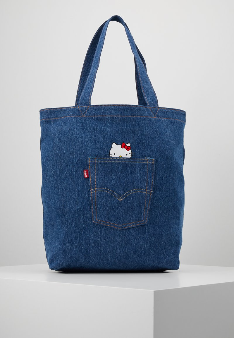 Levi's® - HELLO BACK POCKET TOTE - Tote bag - blue denim