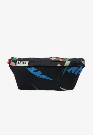 BANANA SLING FLORAL - Bum bag - regular black