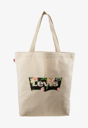 FLORAL BATWING TOTE - Bolso shopping - ecru